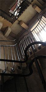 Aufstieg in den Burgturm