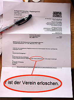 Schreiben vom Amtsgericht München