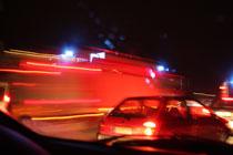 Die Feuerwehr donnert vorbei