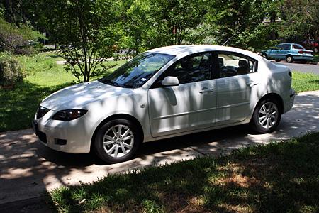 Mein Mietwagen in Austin, ein Mazda