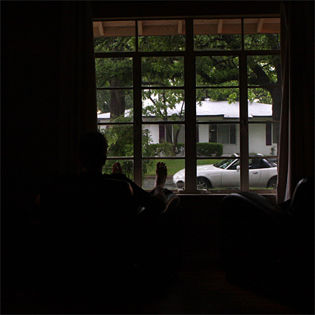 Bei Andreas im Wohnzimmer sitzen