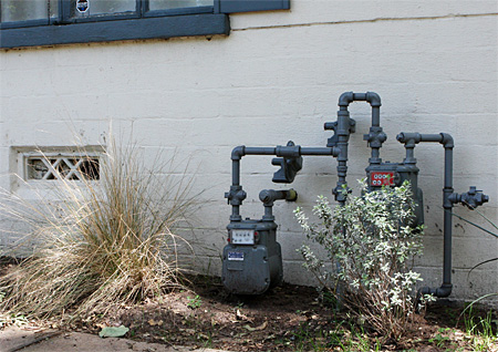 Hausanschluß für Gas in den USA