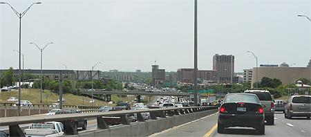Durchschnittlicher Verkehrauf der I-35 in Austin